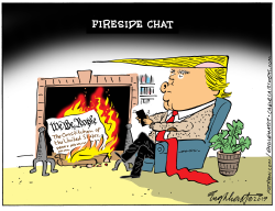 Fireside Chat by Bob Englehart