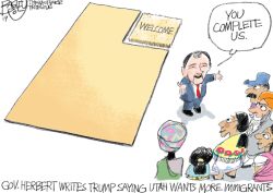 LOCAL Immigrants Welcome by Pat Bagley