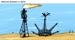 American presence in Syria by Emad Hajjaj
