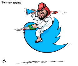 Twitter spying by Emad Hajjaj