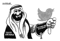 Saudi Arabia spying on Twitter by Jimmy Margulies