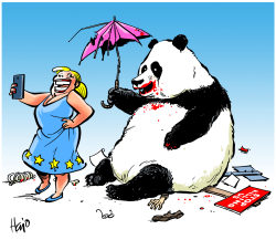 EU China and Hong Kong by Hajo de Reijger