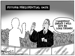 New Presidential Oath by Bob Englehart