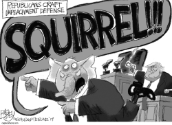 Impeachment Squirrel by Pat Bagley