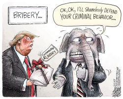 The bribe by Adam Zyglis