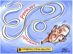 Bloomberg Trial Balloon by Dave Whamond