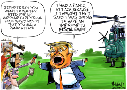 Trump gets physical by Dave Whamond