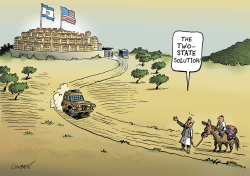 The USA legitimize Israeli settlements by Patrick Chappatte