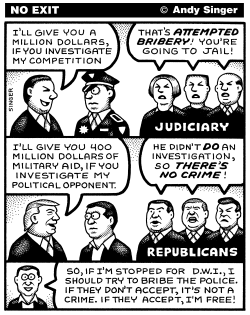 Trump Attempted Bribery by Andy Singer