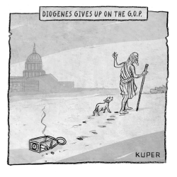 Diogenes by Peter Kuper