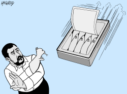 Salvini and the Sardines by Rainer Hachfeld