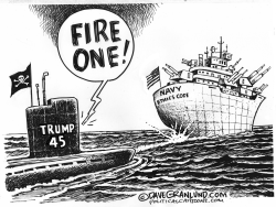 Trump vs Navy ethics code by Dave Granlund