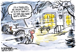 Turkey, it's Cold Outside by Jeff Koterba
