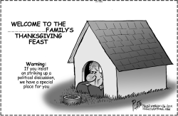 Thanksgiving Warning by Bruce Plante