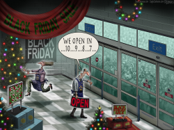 Black Friday Sale Christmas by Sean Delonas