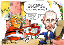 Trump's Early Christmas Present by Dave Whamond