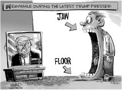 Trump Press Conference Survival Guide by Dave Whamond