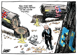 Putin's virtual dog by Jos Collignon