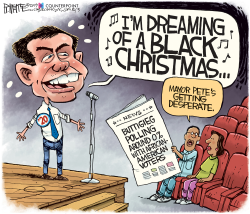 BUTTIGIEG BLACK CHRISTMAS by Rick McKee