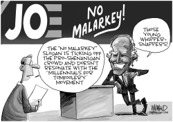 No Malarkey For Biden by Dave Whamond