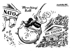 Putin's Wrecking Ball by Jimmy Margulies