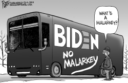 Biden's no malarkey bus by Bruce Plante