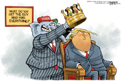 Trump Crowned by Rick McKee