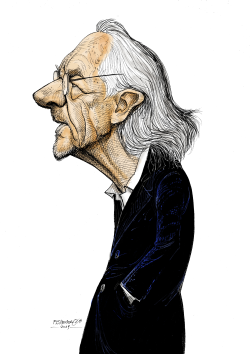 Peter Handke writer by Petar Pismestrovic