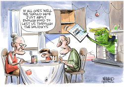 The Grinch who stole food stamps by Dave Whamond