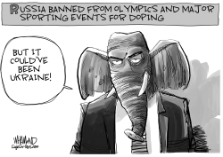 Russia banned from sports over doping by Dave Whamond