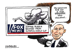 Russia Banned from Olympics by Jimmy Margulies