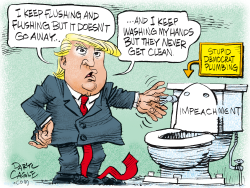 Trump Low Flow Toilet by Daryl Cagle