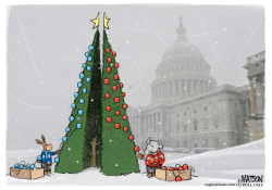 Divided Congress Trims Holiday Tree by R.J. Matson