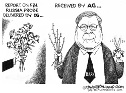 Barr vs IG report on FBI by Dave Granlund