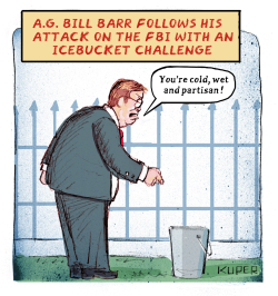 Ice Bucket Challenge by Peter Kuper