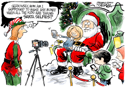 Santa Selfies by Jeff Koterba