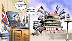 North Korea threats by Paresh Nath