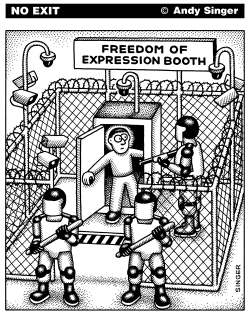 Freedom of Expression Booth by Andy Singer