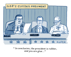 GOP's Closing Argument by Peter Kuper