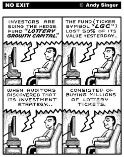 Hedge Fund Lottery by Andy Singer