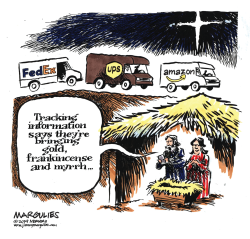 Christmas gift delivery by Jimmy Margulies