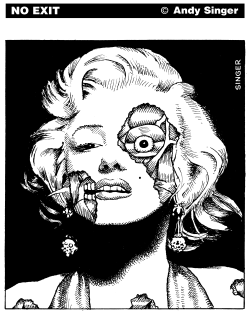 Marilyn Monroe Zombie by Andy Singer