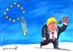 A shooting star - Boris Johnson by Christo Komarnitski