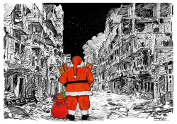 Still yet the Tragedy of Aleppo at Christmas by Tayo Fatunla