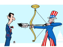 Sanctions on Syria by Emad Hajjaj
