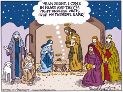 Nativity Scene by Bob Englehart