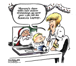 Online Christmas shopping by Jimmy Margulies