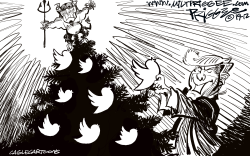 Twitter Tree by Milt Priggee