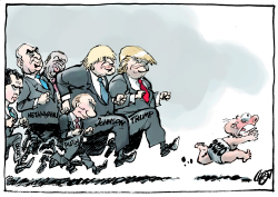 Right Wing Leaders in New Year by Jos Collignon