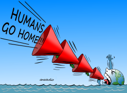 Humans GO HOME by Arcadio Esquivel